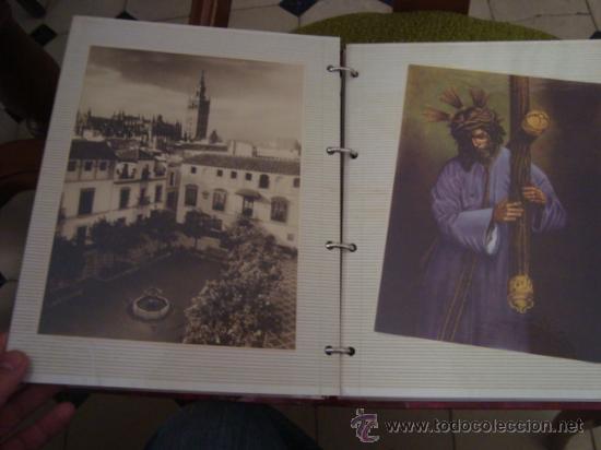 Postales: magnifico y curioso album de coleccionista de la ciudad de sevilla ysu semana santa , virgen cristo - Foto 3 - 29942249