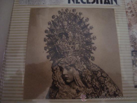 Postales: magnifico y curioso album de coleccionista de la ciudad de sevilla ysu semana santa , virgen cristo - Foto 28 - 29942249