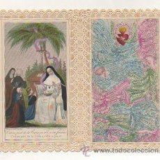 Postales: ESTAMPA RELIGIOSA. CONGREGATION DU BON PASTEUR D'ANGERS. PUNTILLA. (15 X 12 CM.) . Lote 29990381