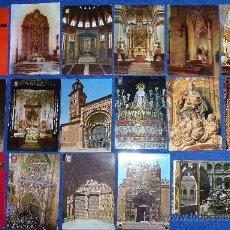 Postales: LOTE DE 30 POSTALES TEMÁTICAS DE IGLESIAS E IMÁGENES RELIGIOSAS. Lote 30060168