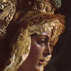 Postales: VIRGEN DE LA ESPERANZA MACARENA SEVILLA GARD FOTOGRAFO EDITADA 1975 ESCRITA CIRCULADA SELLO. Lote 30452794
