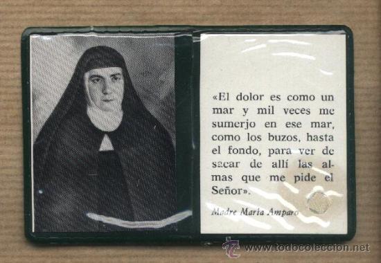RECUERDO ESTAMPA MADRE MARIA AMPARO. CANTALAPIEDRA.SALAMANCA. CLARISAS.RELIQUIA. (Postales - Postales Temáticas - Religiosas y Recordatorios)