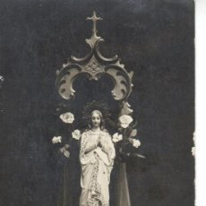 Postales: POSTAL FOTO RELIGIOSA VIRGEN. Lote 30508565