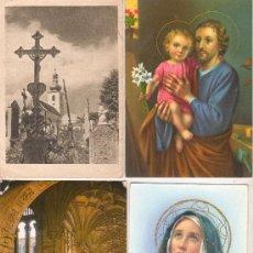 Postales: 4 POSTALES RELIGIOSAS DISTINTAS ALGUNAS CIRCULADAS. Lote 30508814