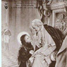 Postales: POSTAL, LA BEATA TERESITA DEL NIÑO JESÚS A LOS PIES DE LEÓN XIII. Lote 30632129