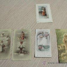 Postales: LOTE DE 5 RECORDATORIOS DE COMUNIÓN. Lote 30725371