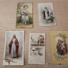 Postales: LOTE DE 5 RECORDATORIOS DE COMUNIÓN. Lote 30814332