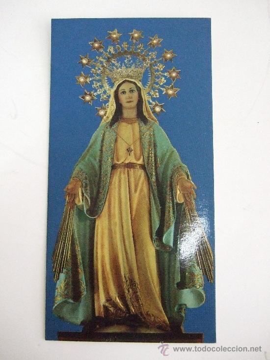estampa de la virgen milagrosa imagen venerada en su basilica de madrid oracion al