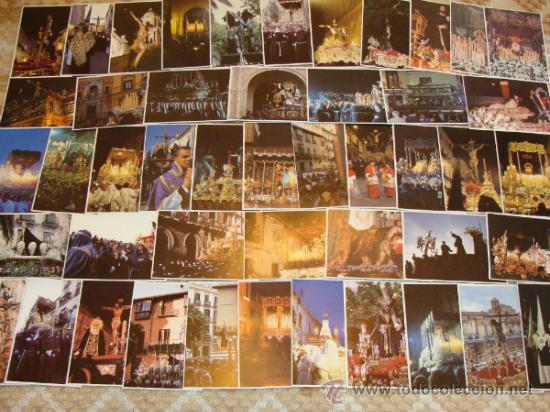 LOTE 210 POSTALES DE SEMANA SANTA: MÁLAGA, MARBELLA, FUENGIROLA, ANTEQUERA, RONDA. AÑOS 90. (Postales - Postales Temáticas - Religiosas y Recordatorios)