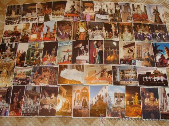 Postales: LOTE 210 POSTALES DE SEMANA SANTA: MÁLAGA, MARBELLA, FUENGIROLA, ANTEQUERA, RONDA. AÑOS 90. - Foto 2 - 41711119