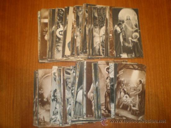 LOTE DE 110 ESTAMPAS RELIGIOSAS B/N - 9,5 X 5 (Postales - Postales Temáticas - Religiosas y Recordatorios)