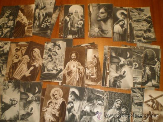 Postales: LOTE DE 110 ESTAMPAS RELIGIOSAS B/N - 9,5 X 5 - Foto 4 - 31233491