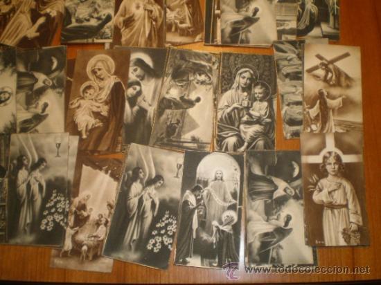 Postales: LOTE DE 110 ESTAMPAS RELIGIOSAS B/N - 9,5 X 5 - Foto 5 - 31233491