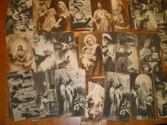 Postales: LOTE DE 110 ESTAMPAS RELIGIOSAS B/N - 9,5 X 5 - Foto 6 - 31233491