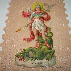 Postales: ANTIGUA Y BONITA ESTAMPA CALADA....OBSEQUIO DE CHOCOLATES BOIX. FINALES SIGLO XIX.. Lote 31286669