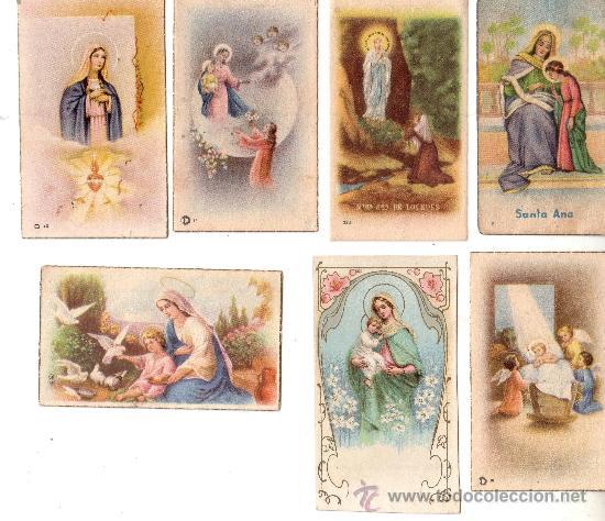 ESTAMPAS LOTE NUMERO 18 - RELIGIOSAS ANTIGUAS - SIETE ESTAMPAS (Postales - Postales Temáticas - Religiosas y Recordatorios)