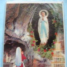 Postales: POSTAL RELIGIOSA. AÑOS 70. BASÍLICA DE LOURDES, FRANCIA. GRUTA VIRGEN. 7. . Lote 31576998
