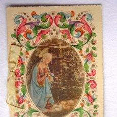 Postales: (TRE-09) LA VIRGEN, ADORACION AL NIÑO, DECORACION COLORES Y ORO. POSTAL DIPTICO. CIRCA 1930-L. P.. Lote 31885584