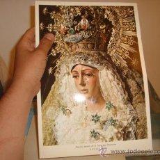 Postales: GRANDE FOTOGRAFIA LAMINA DURA VIRGEN NUESTRA SEÑORA DE LA ESPERANZA MACARENA, SEVILLA 22,5 X 32,5 CM. Lote 31956422