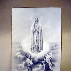 Postales: ESTAMPA, RELIGIOSA, NUESTRA SEÑORA DEL ROSARIO DE FATIMA, VIRGEN, 1945. Lote 32070409