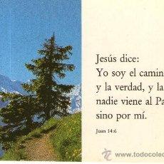Postales: BUENA POSTAL RELIGIOSA SALMO JUAN 14:6 - JESUS DICE YO SOY EL CAMINO. Lote 32149378