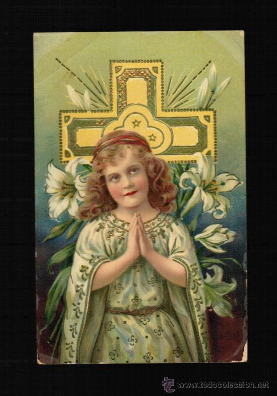 POSTAL TEMA RELIGIOSA - NIÑA REZANDO (Postales - Postales Temáticas - Religiosas y Recordatorios)