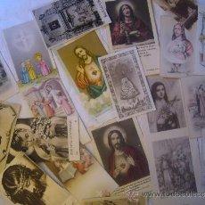 Postales: LOTE DE 20 ANTIGUOS RECORDATORIOS Y ESTAMPAS RELIGIOSAS ESTADO PLANCHA. Lote 32953893
