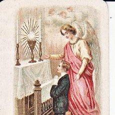 Postales: RECORDATORIO PRIMERA COMUNIÓN AÑO 1908. Lote 33057568