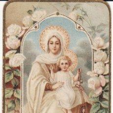 Postales: ESTAMPA RELIGIOSA REGINA CARMELO PRINCIPIOS DEL S XX. Lote 33589007