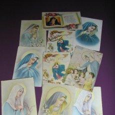 Postales: 10 POSTALES ANTIGUAS VIRGEN MARIA. Lote 33563407