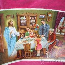 Postales: LAMINA PARA ENCUADRAR DE FAMILIA CRISTIANA CON EL SEÑOR ,MIDE45 X35 APROX ,ESTA PERFECTA. Lote 33819017