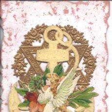Postales: PS3176 POSTAL TROQUELADA Y DESPLEGABLE CON ÁNGEL. ESCRITA AL DORSO Y FECHADA EN 1910. Lote 52502480