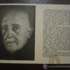 Postales: ESQUELA MORTUORIA RECORDATORIO FRANCISCO FRANCO TARRAGONA 21 DE NOVIEMBRE 1975 IMPRESION GUARDIAS . Lote 33423582