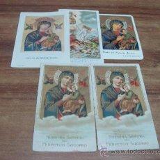 Postales: LOTE DE 5 ESTAMPAS RELIGIOSAS DE NUESTRA SEÑORA DEL PERPETUO SOCORRO.- 6X11CTMS.-. Lote 34211059