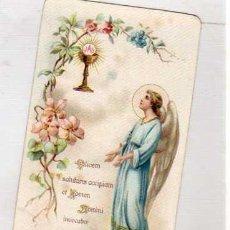 Postales: ESTAMPA RELIGIOSA CALICIEM SALUTARIS 204. ANGEL. Lote 34218752