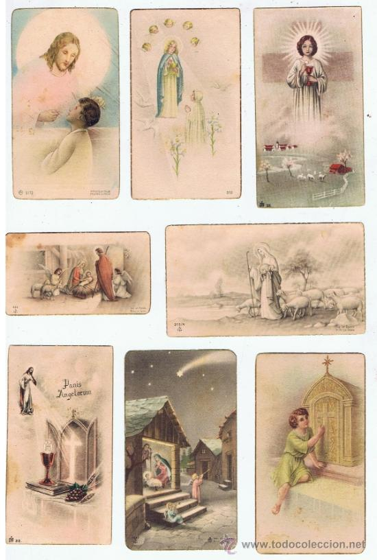 Postales: lote 12 estampitas primera comunion anyos 40 ver fotos - Foto 3 - 34346635