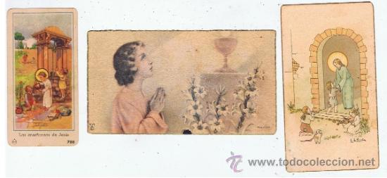 Postales: lote 12 estampitas primera comunion anyos 40 ver fotos - Foto 2 - 34346635