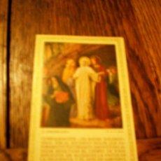 Postales: ESTAMPA RELIGIOSA PASIÓN DE CRISTO RECUERDO ADORACIÓN NOCTURNA 1938. Lote 34477868