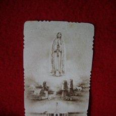 Postales: ESTAMPA DE N. S. ROSARIO DE FATIMA( 9 X 5.2 CTM ). Lote 34916679