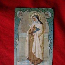 Postales: ESTAMPA DE SANTA TERESA DE JESUS ( PUBLICIDAD MANTECADAS Y CHOCOLATES DE ASTORGA POR DETRAS ). Lote 35069938