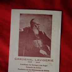 Postales: ESTAMPA DEL CARDENAL LAVIGERIE ( 1825 - 1892 ). Lote 35070458