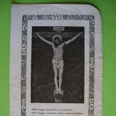 Postales: ESTAMPA DE JESUCRISTO CRUCIFICADO (12 X 8 CTM ). Lote 35216668