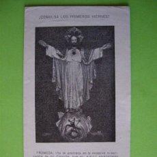 Postales: ESTAMPA DE COMULGA TODOS LOS VIERNES ( 12.5 X 7 CTM ). Lote 35216775