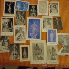 Postales: GRAN LOTE ANTIGUAS ESTAMPAS RELIGIOSAS SEMANA SANTA CADIZ VIRGEN CRISTO, PATRONA. Lote 35368017