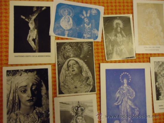 Postales: gran lote antiguas estampas religiosas semana santa cadiz virgen cristo, patrona - Foto 5 - 35368017