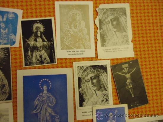 Postales: gran lote antiguas estampas religiosas semana santa cadiz virgen cristo, patrona - Foto 4 - 35368017