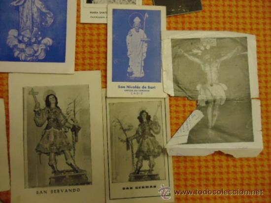 Postales: gran lote antiguas estampas religiosas semana santa cadiz virgen cristo, patrona - Foto 3 - 35368017