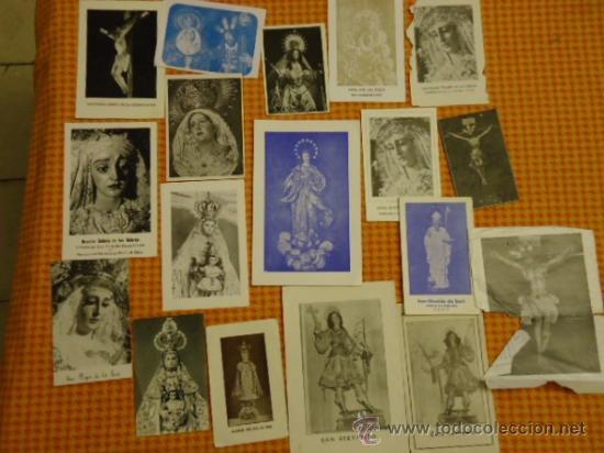 Postales: gran lote antiguas estampas religiosas semana santa cadiz virgen cristo, patrona - Foto 2 - 35368017