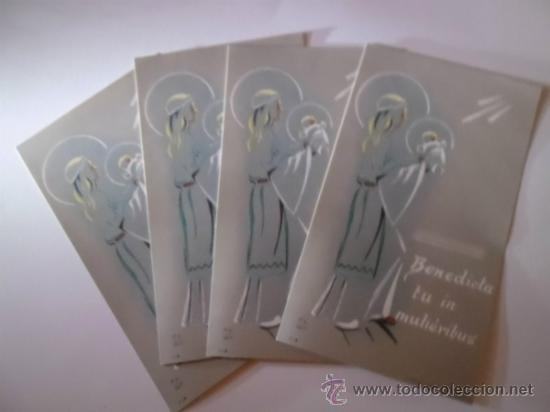 POSTALES - 4 ESTAMPAS RELIGIOSAS (Postales - Postales Temáticas - Religiosas y Recordatorios)