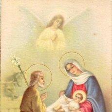 Postales: POSTAL NACIMIENTO - SAN JOSE, VIRGEN MARIA Y NIÑO JESUS - CYZ SERIE ORO 1081. Lote 38725062